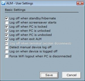 ALM Personal settings
